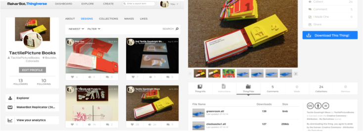This is a picture of the Thingiverse website and of the entry.